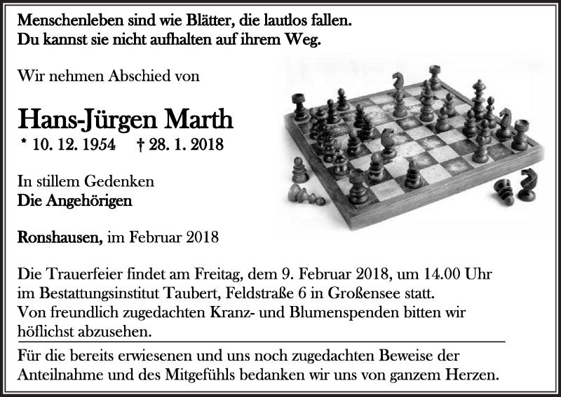 Jürgen Marth verstorben