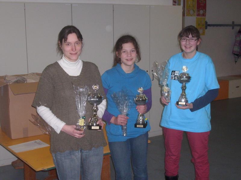 HFBEM und MM Babenhausen - Die Siegerinnen Jutta Ries (A-Gruppe) Sonja Wallrabenstein (B-Gruppe) Anna-Viktoria Lehnert (C-Gruppe)
